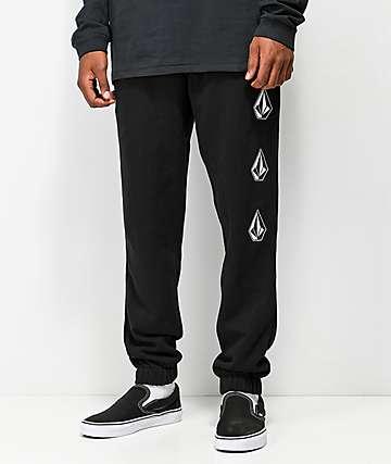 Volcom Deadly Stone Black Fleece Sweatpants