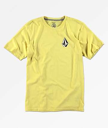 Volcom Deadly Stone camiseta amarilla para niños