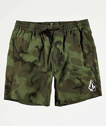 Volcom Deadly Stones Camo Shorts