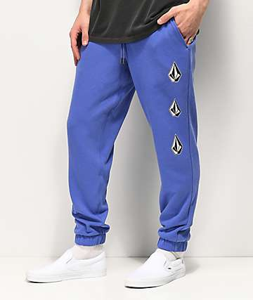 Volcom Deadly Stones Purple Jogger Sweatpants