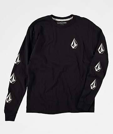 Volcom Deadly Stones camiseta de manga larga negra para niños