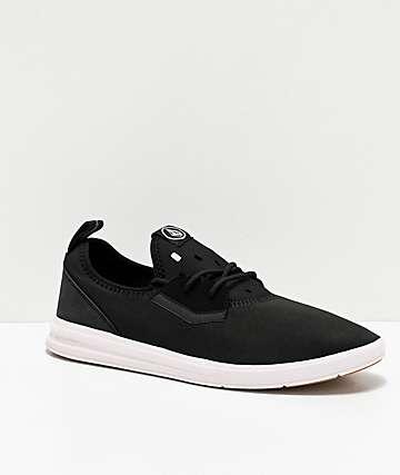 Volcom Draft Black & White Shoes