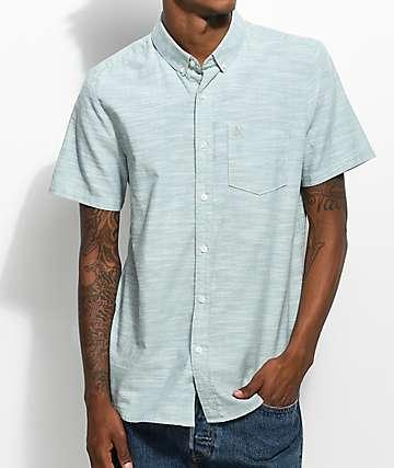 Volcom Everett camisa tejida en verde azulado