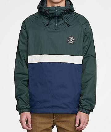 Volcom Fezzes Dark Pine, White & Navy Jacket