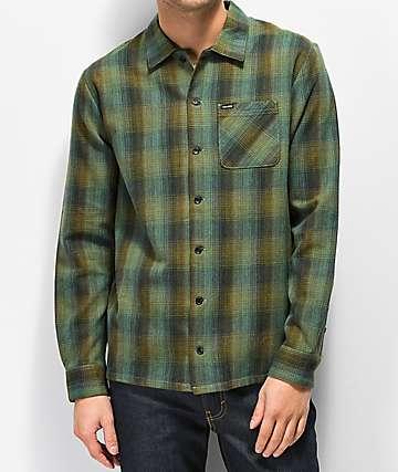 Volcom Flanders Dark Pine Flannel Shirt