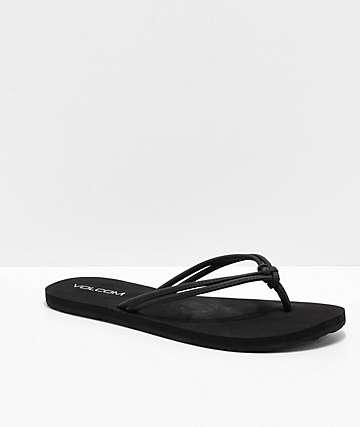 Volcom Forever & Ever Black Sandals