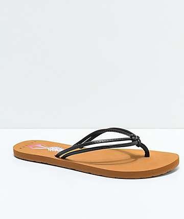 Volcom Forever & Ever Hawaii Black & Tan Sandals