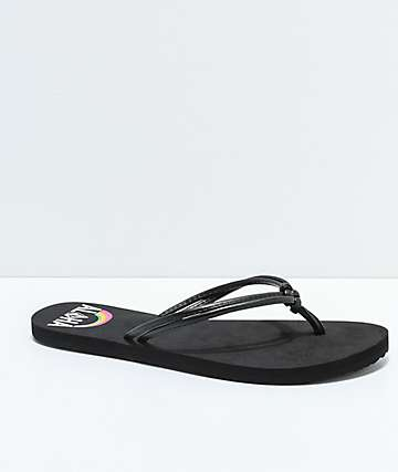 Volcom Forever & Ever Hawaii Black Sandals