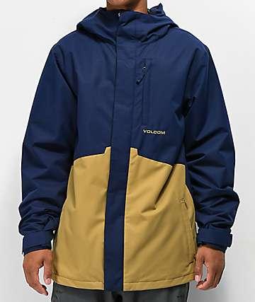 Volcom Forty 10K chaqueta de snowboard azul marino
