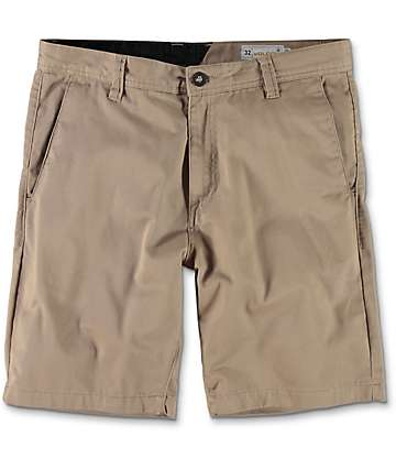 Volcom Frickin Drifter Khaki Chino Shorts