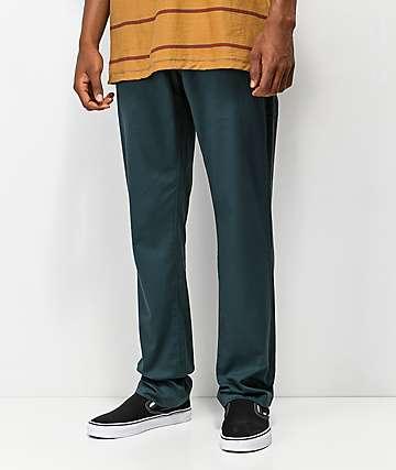 Volcom Frickin Modern Navy Green Straight Chino Pants