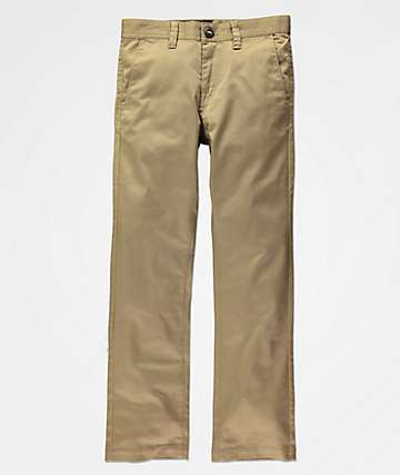 Volcom Frickin Modern pantalones caqui para niños