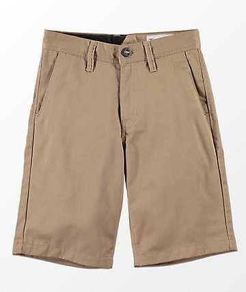 Volcom Frickin shorts caqui para niños