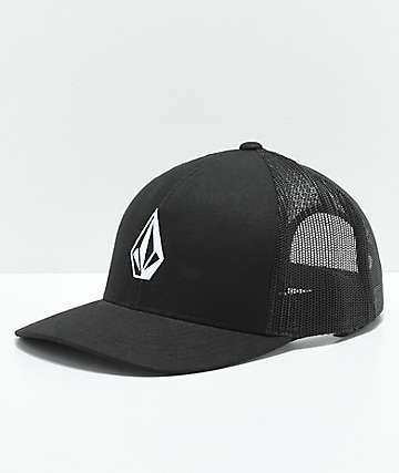 Volcom Full Stone Cheese Black Trucker Hat
