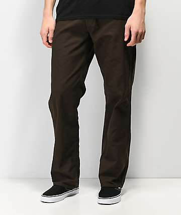 Volcom Gritter Plus Espresso Chino Pants