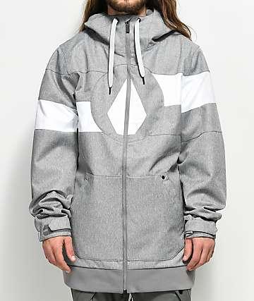 Volcom Hal 10K chaqueta de snowboard en gris jaspeado