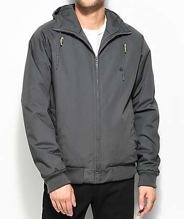 Volcom Hernan Insulated Grey Bomber Jacket