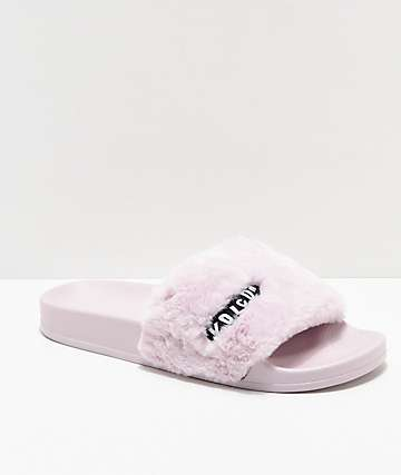 Volcom Lil Slide sandalias en morado pastel