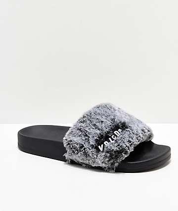 Volcom Lil Slide sandalias grises