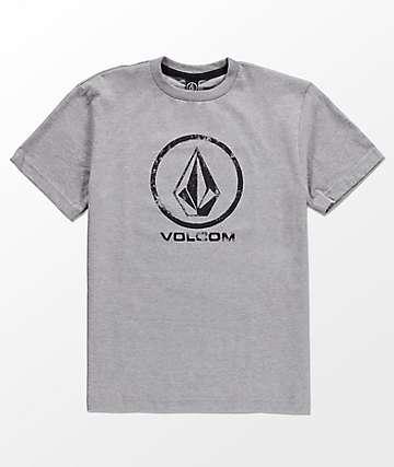 Volcom Lino Stone camiseta gris para niños