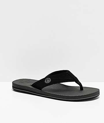 Volcom Lounger Black Sandals