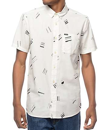 Volcom Micro Warp Printed Short Sleeve Button Up Shirt