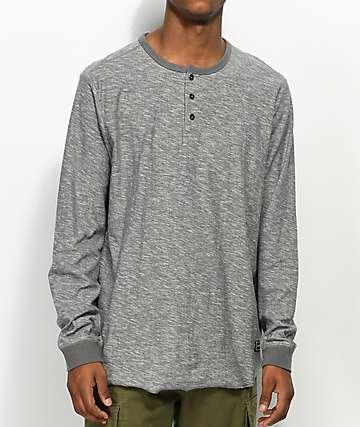 Volcom Moxee Light Grey Long Sleeve Henley T-Shirt