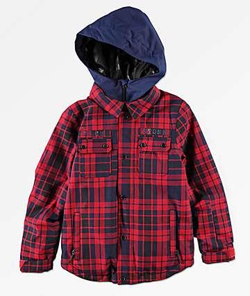 Volcom Neolithic 10K chaqueta de snowboard roja para niños