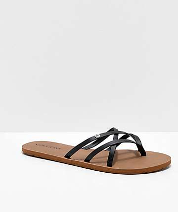 13df932a5564 Volcom New School Black Strappy Sandals