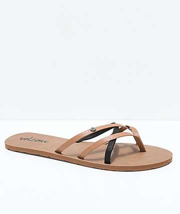 Volcom New School Brown & Black Sandals
