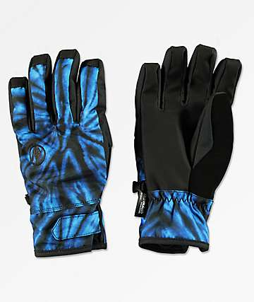 Volcom Nyle Blue Tie-Dye Snowboard Gloves