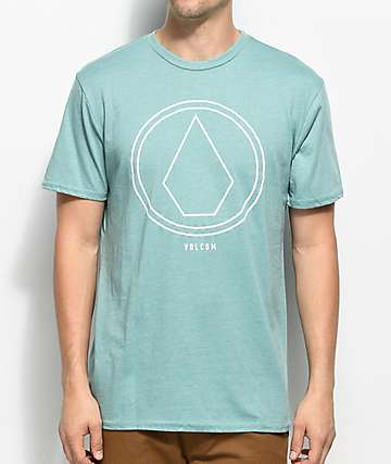 Volcom Pin Line Stone Teal T-Shirt