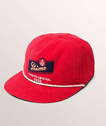 Volcom Primo Chug Spark Red Snapback Hat