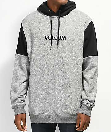 Volcom Profile sudadera con capucha negra y gris