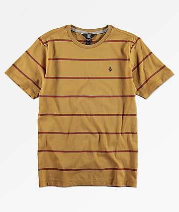 Volcom Randall camiseta roja y  dorada para niños
