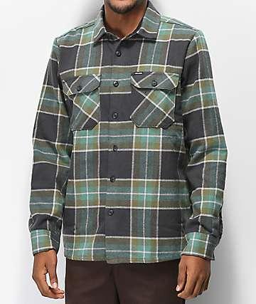 Volcom Randower Deep Sea camisa de franela