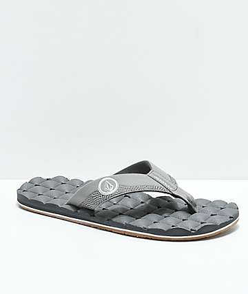 Volcom Recliner Light Grey & Gum Sandals