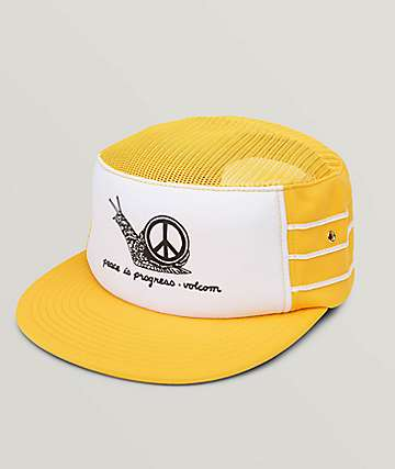 Volcom Righteous Cheese Yellow Snapback Hat