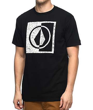 Volcom Scratch Black T-Shirt