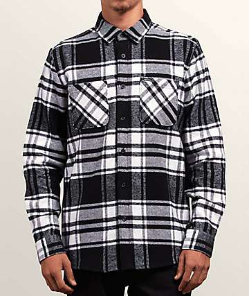 Volcom Shader Black & White Flannel Shirt