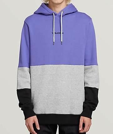 Volcom Single Stone Division Purple Hoodie