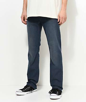 Volcom Solver Blue Grey Straight Fit Jeans