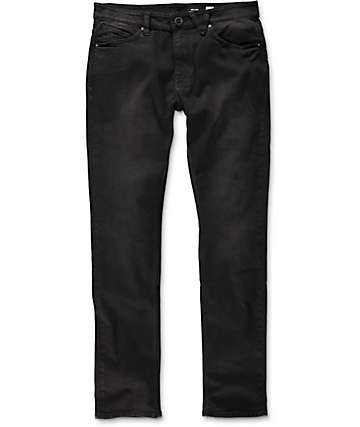 Volcom Solver Dusted Black Modern Tapered Fit Jeans