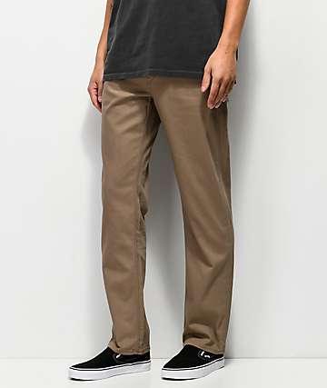 Volcom Solver Slub Grain Brown Jeans