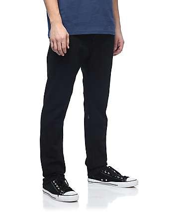 Volcom Solver Taper jeans negros asargados