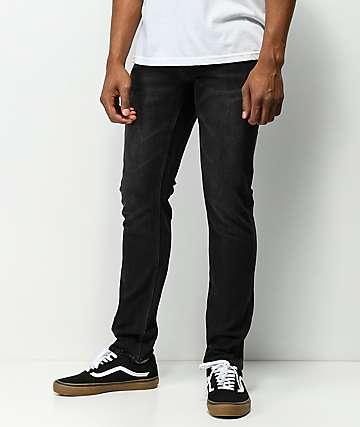 Volcom Solver jeans negros cónicos