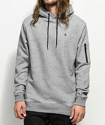 Volcom Somewhere Heather Grey Hoodie