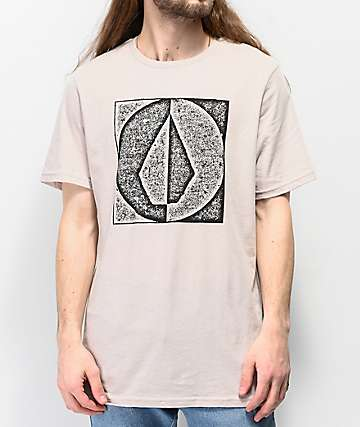 Volcom Stamp Divide Natural T-Shirt