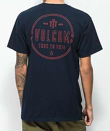 Volcom Steered Navy T-Shirt