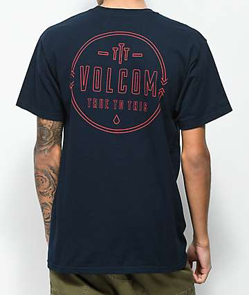 Volcom Steered camiseta en azul marino